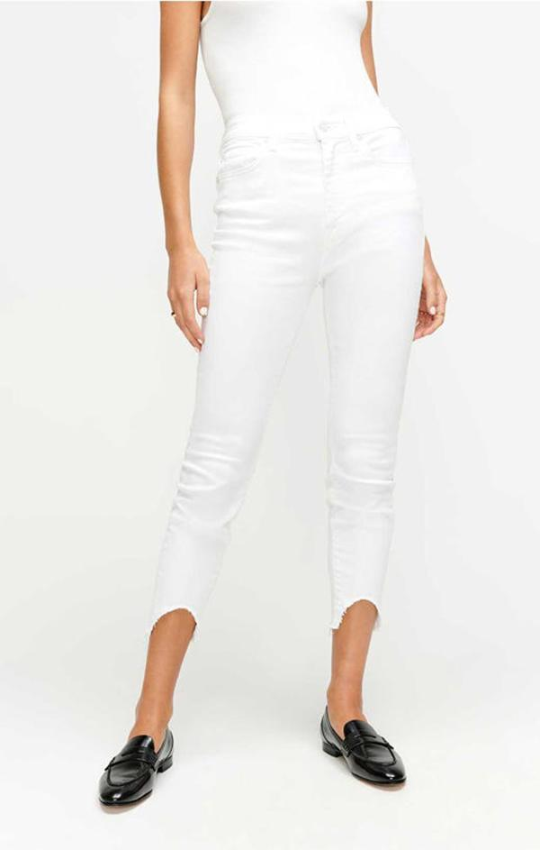 trendy white summer skinny jeans for women
