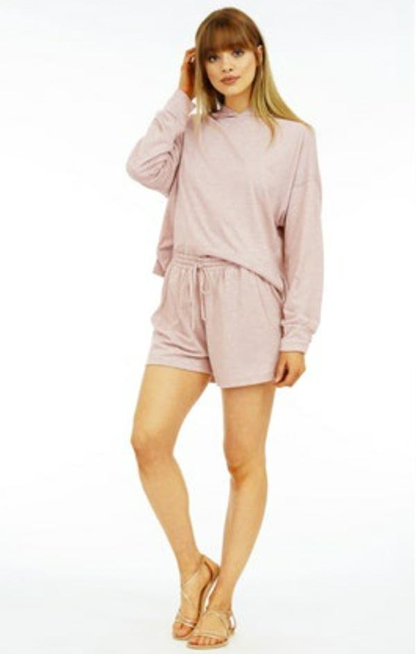 veronica m spring blush short lounge wear
