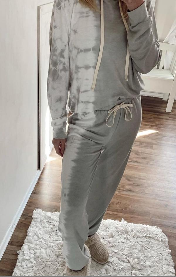 tie dye grey matching lounge set