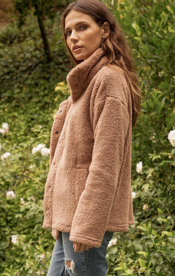 comfy teddy jacket for fall