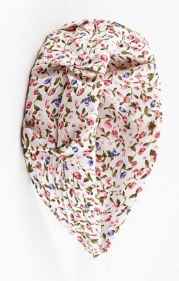 womens spring cream pink blue floral headband