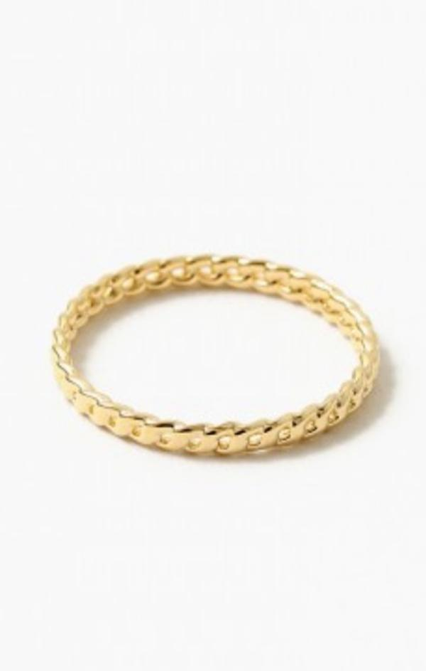 gold women's Cuban chain link ring summer accessories