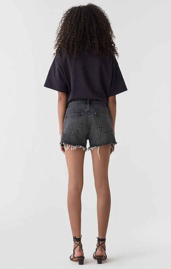 black denim shorts for summer