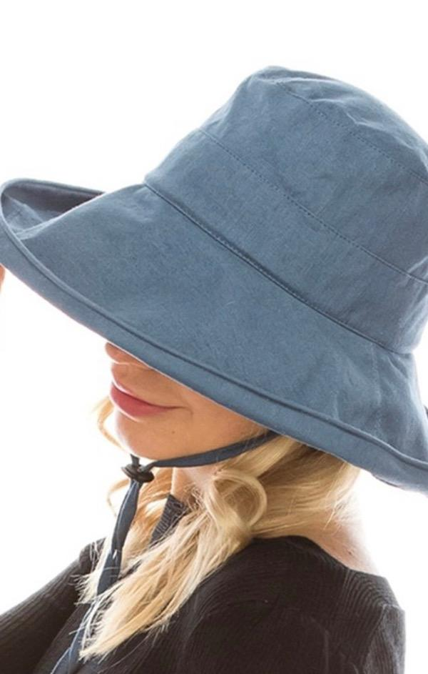 denim packable boating hat for summer