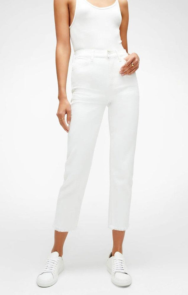 white crop denim jeans