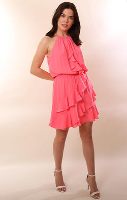 Halter Ruffle Dress