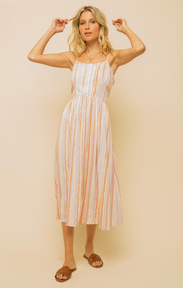 midi stripes summer dress
