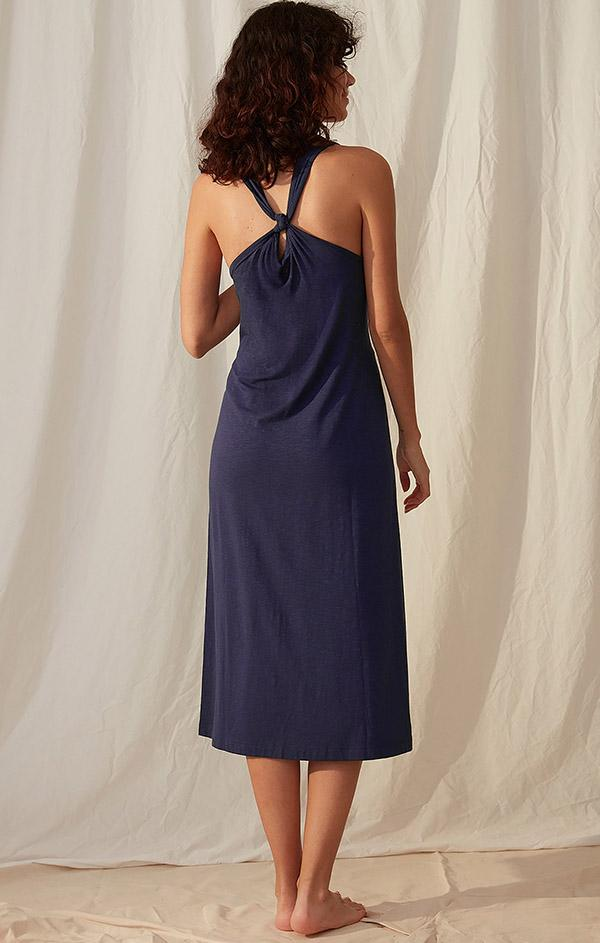 jersey navy midi dress for summer