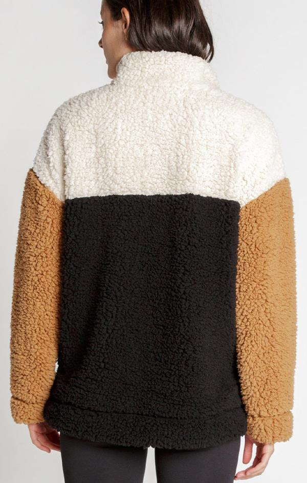 cozy fleece pullover for fall