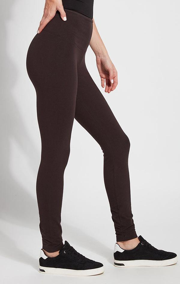 brown cotton stretch leggings