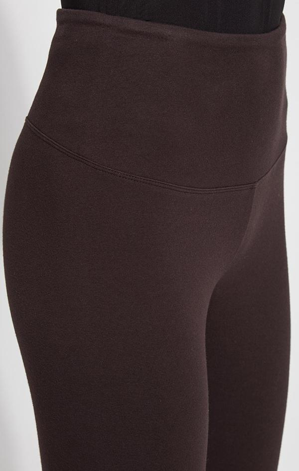 brown cotton leggings by lysse