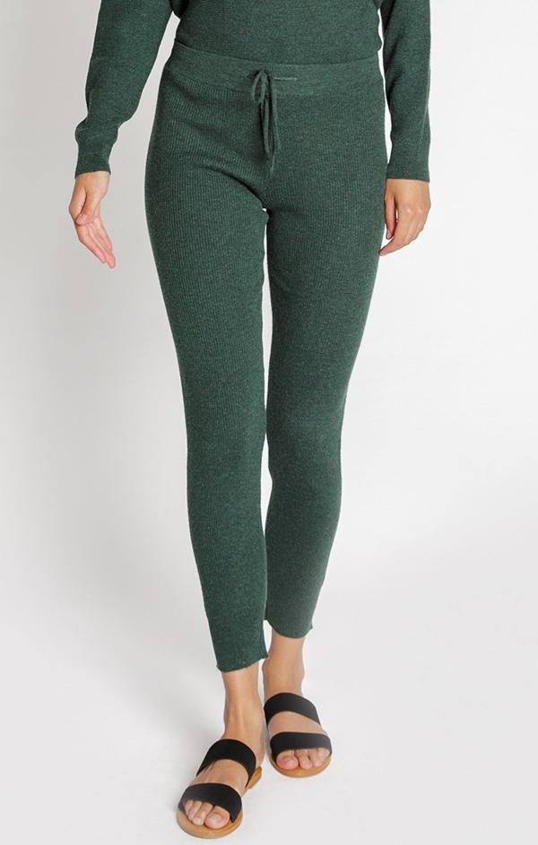 green jogger lounge pants