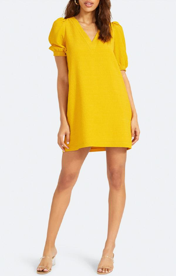 yellow mini dress by bb dakota