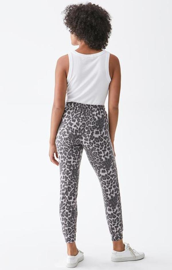 animal printed jogger pants