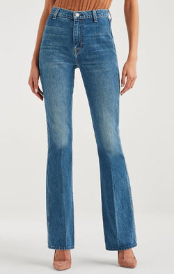 7 For All Mankind Denim High Waist Fit To Flare A Pocket Blue Jeans
