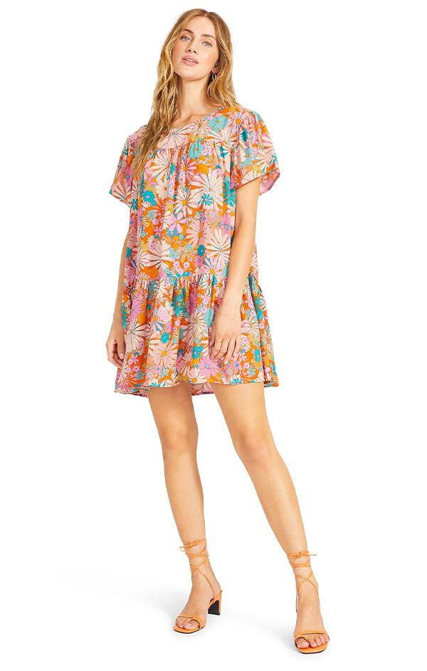 mini floral printed shift dress by bb Dakota