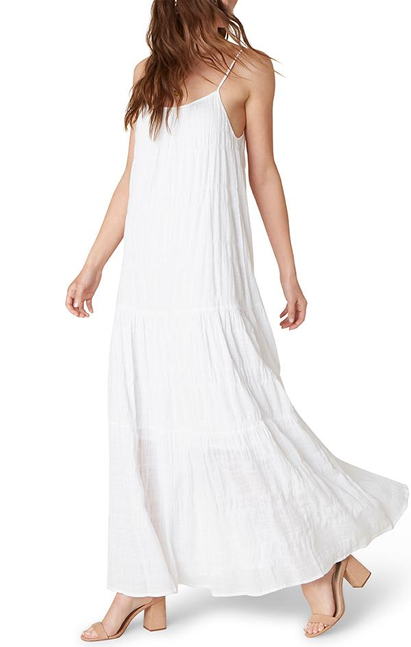 Flowy White Linen Dress by Cp Shades For Spring
