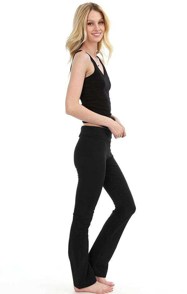 folder black yoga pants