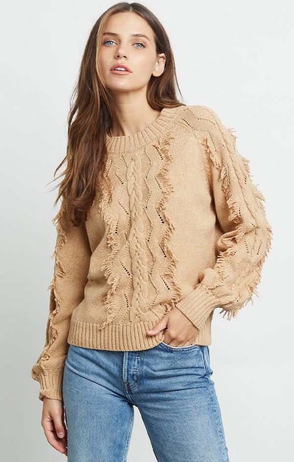 western knit with fringe detailing
