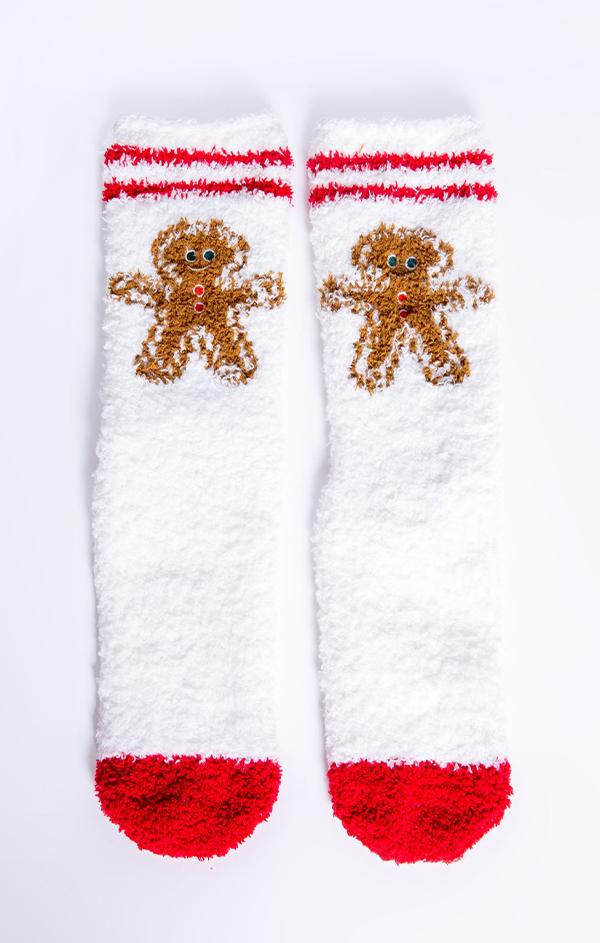 gingerbread cookie holiday socks