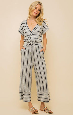summer striped jumpsuit