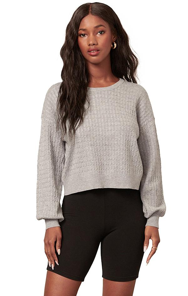 cable knit grey knit sweaters