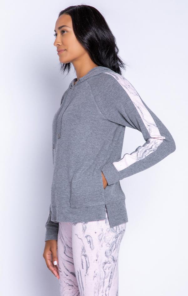 heather grey pullover hoodie