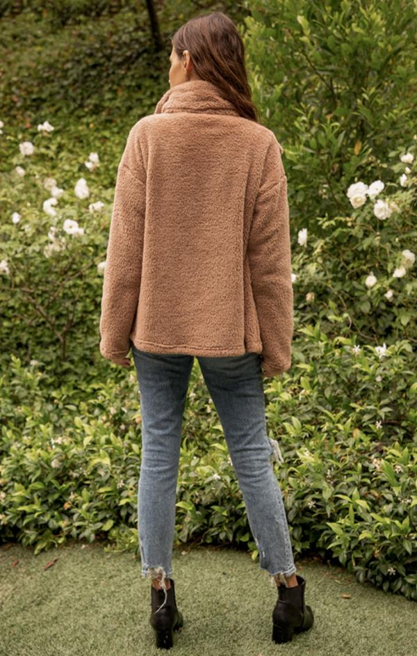cozy teddy jacket for fall