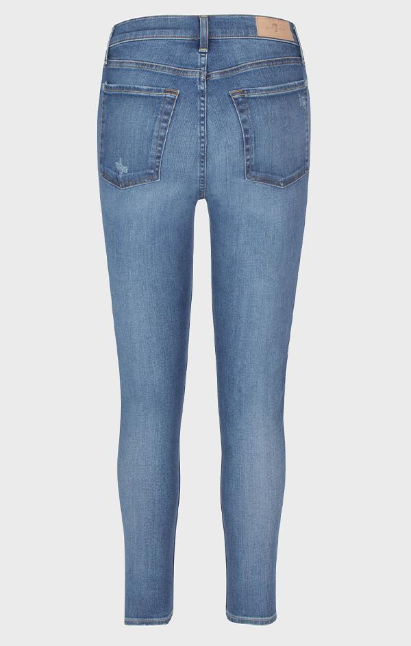 high waisted ankle skinny jeans