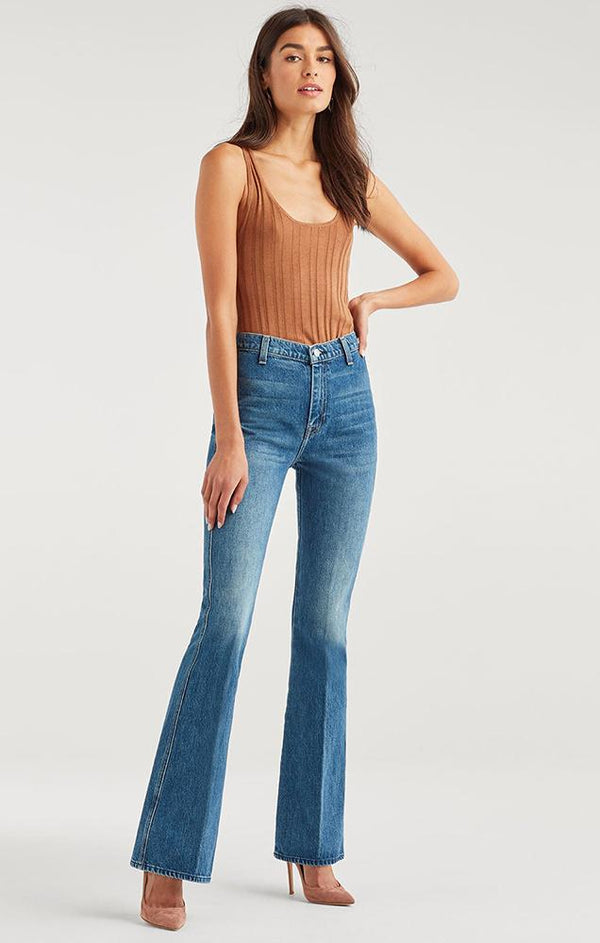 7 For All Mankind Denim High Waist Fit To Flare A Pocket Classic Jean
