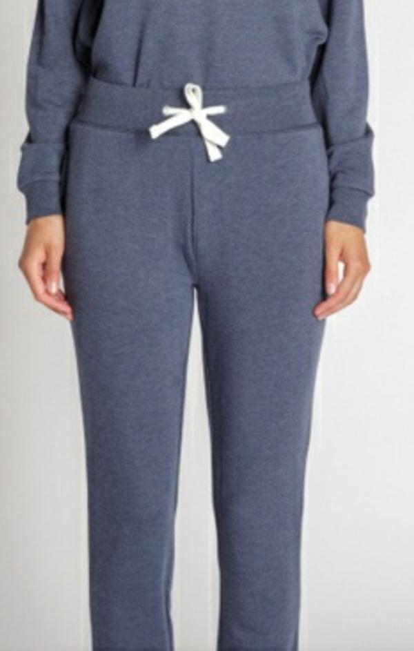 drawstring cozy jogger in blue