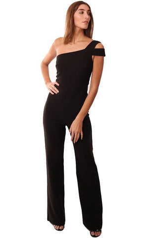 f199b07190b Likely Jumpsuits Wide Leg One Shoulder Dressy Black Chic Sexy Jumpsuit