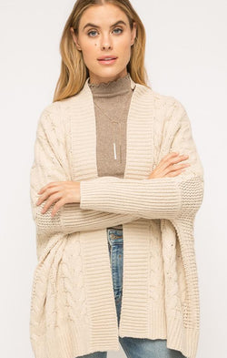 cozy cable knit cardigan
