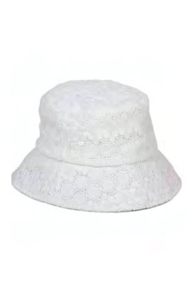 white lace bucket hat