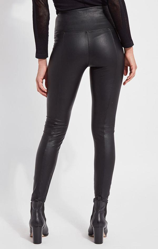 body hugging high waisted black leggings