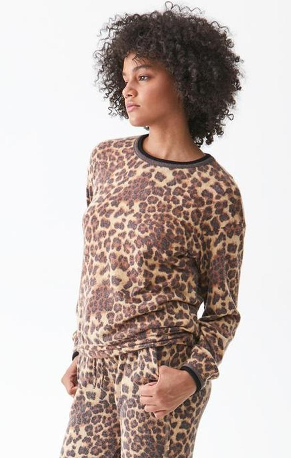 animal printed sweatshirt