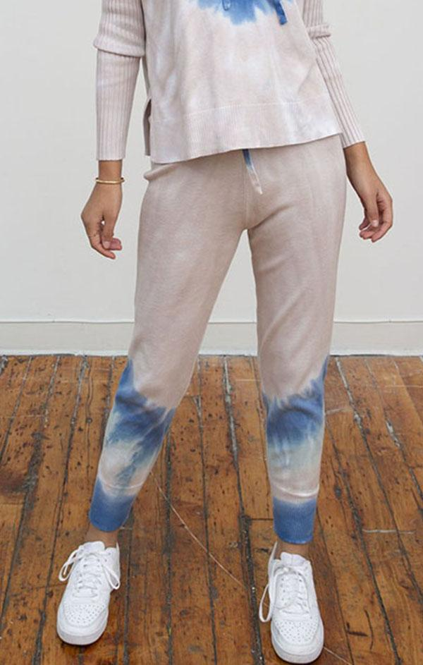 sand combo jogger spring knit sweatpants for women