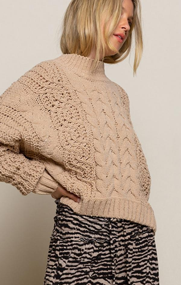 cable knit fall sweater