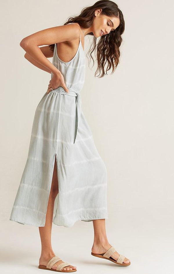 toe dye belted maxi sun dress