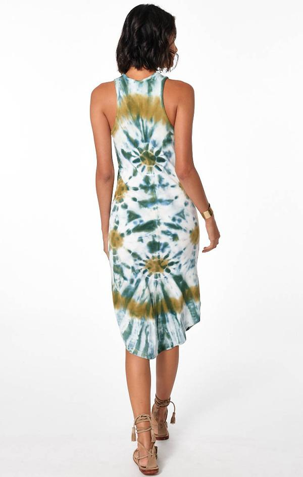 midi tank dress in tie dye