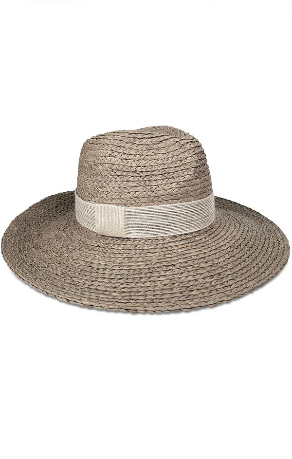 hat attack raffia linen summer modern sun beach hat