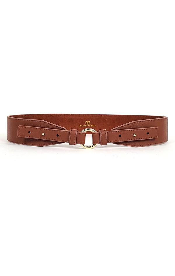 chic leather brown belt