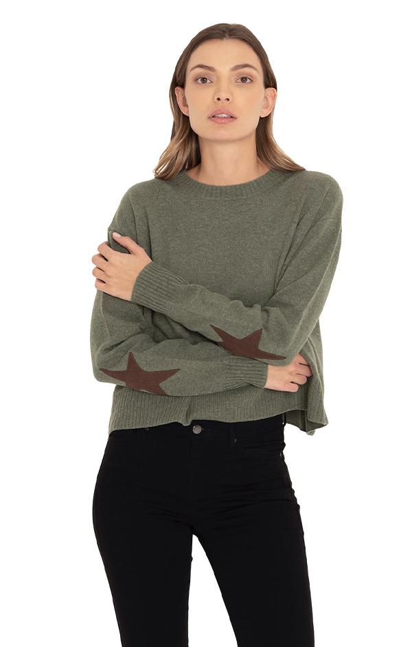 olive cropped sweater