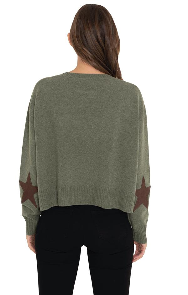 green knit sweater with stars