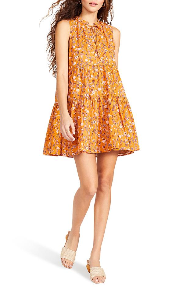 papaya Sunny Disposition Dress