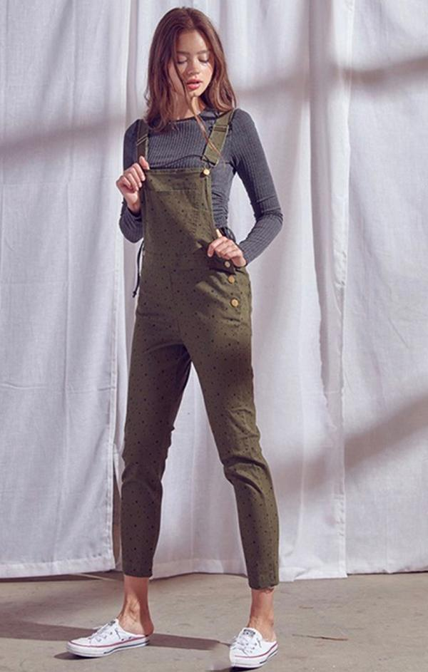 olive green overalls for fall