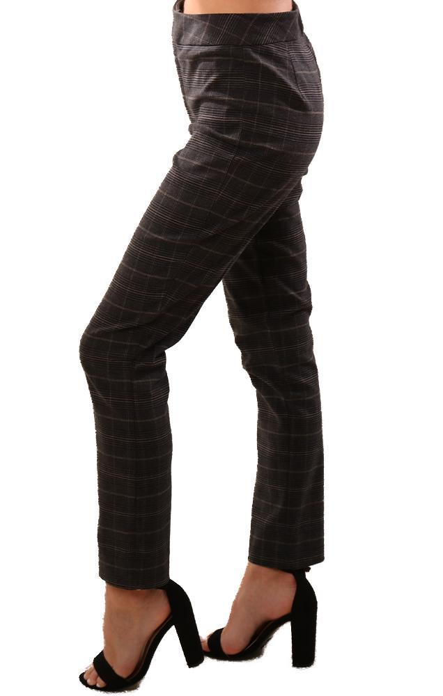 Bailey 44 Pants Tailored Slim Leg Grey Plaid Holiday Pant