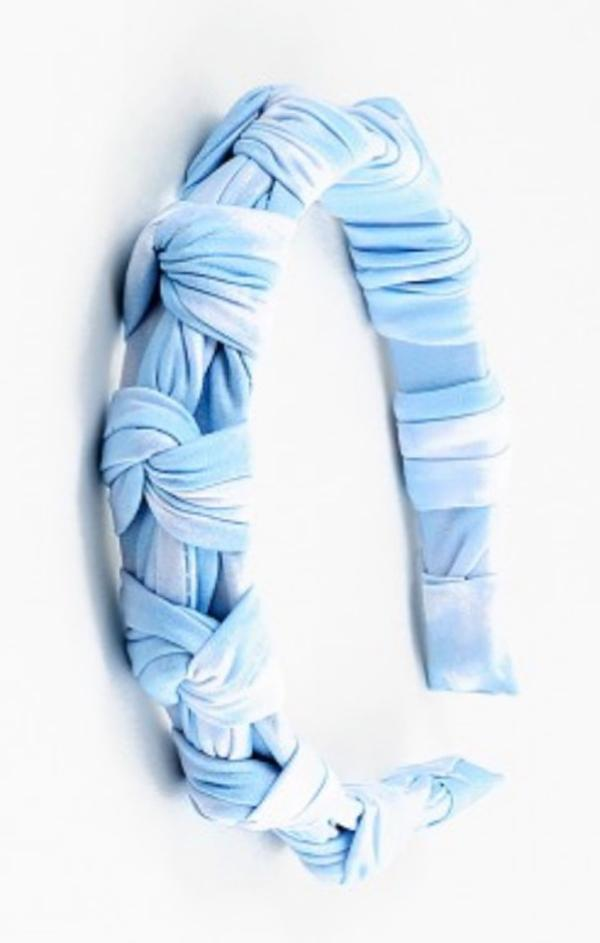 blue tie dye headband for women