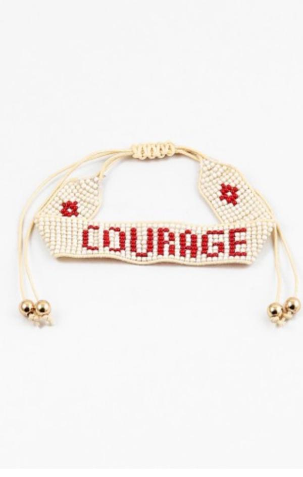 inspirational jewelry red summer trendy courage bracelet