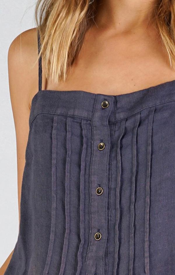 button front thin strap cami